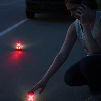 LED Combo Light | Using the product as a road flare is super easy.  Simply set the flare down and press the button.  When the flare is pointed at traffic it is visible for miles!