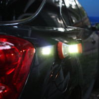 LED Combo Light | Attaching the magnets to your car is a super fast way to get attention.