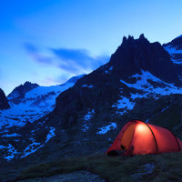 LED Combo Light | Lantern Mode is perfect for lighting up your tent!