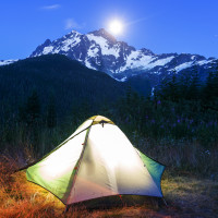 SwivelProLED™ | With both sides on, the SwivelPro™ provides 360 degree lighting that is perfect for tents.