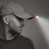 SwivelClip can clip onto your hat for hands-free lighting.